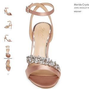 NIB Badgley Mischka Merida sz 11 crystal heels